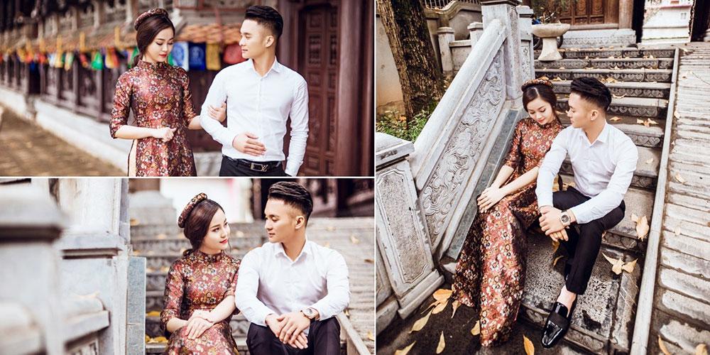 Chụp ảnh cưới ngoại cảnh với áo dài