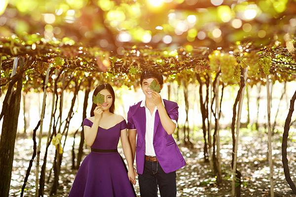 Chụp ảnh cưới tại vườn nho Phan Rang
