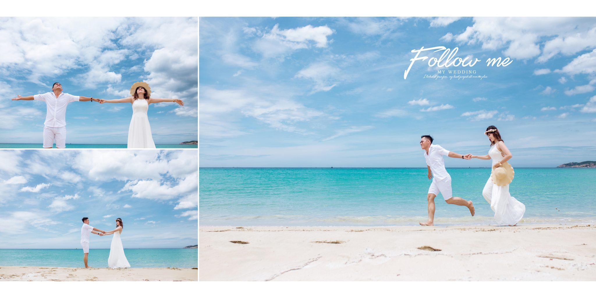 Chụp ảnh cưới tại biển Bình Tiên
